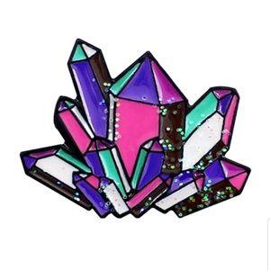 Jewelry - {5/$25} Healing rainbow crystals pin
